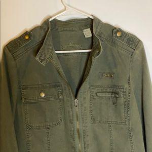 Caribbean Joe khaki green jacket